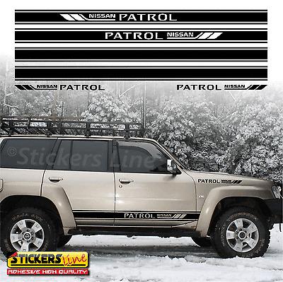 Fasce adesive Nissan PATROL adesivi fuoristrada strisce laterali 4x4 off road