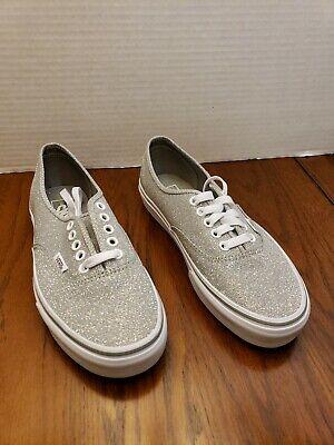 Vans Old Skool Silver Glitter and White