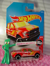 '15 FORD F-150 #185✰Red truck;white Rim✰HW RESCUE✰2017 i Hot Wheels Case H/J