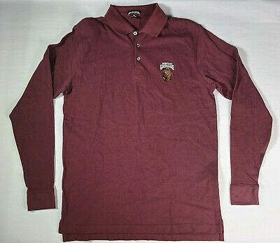 Mens Montana Grizzlies Eagle Short Sleeve Polo Shirt