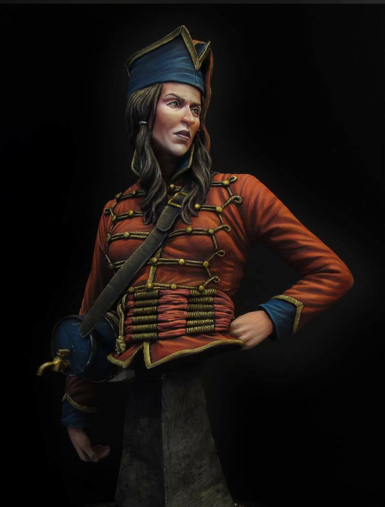 SK Miniatures La Cantiniere Napoleonic bust1 9th Unpaintedkit CARL REID