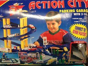 Hot Weels Garage : Realtoy action city parking garage rare hot wheels compatible r ebay