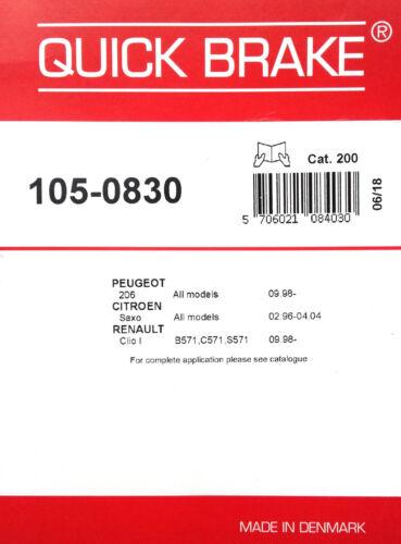 Quick Brake 1050830 Freno Scarpe Kit Montaggio Molle per Renault 6001547628