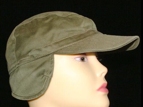 Vintage 1960s Swedish Army Green Military Fatigue Baseball Cap Hat Size 57 22.25