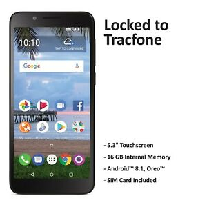 Tracfone TCL LX 4G LTE Prepaid Cell Phone (Refurbished)
