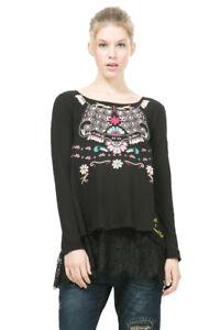 shirt 18 T Uk8 Lace Desigual Tunic Rrp Atenas Top Printed Xs Hem xxl qPw0Fvq