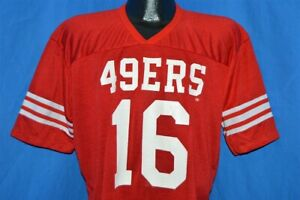 Details about vintage 80s SAN FRANCISCO 49ERS JOE MONTANA 16 JERSEY t-shirt FOOTBALL LARGE L