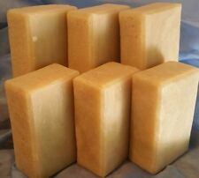6 bars of castile handmade soap made with olive & coconut oil EUCALYPTUS GINGER