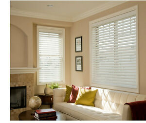 Bravada Select, Superior 2 inch Faux Wood Blinds- Color White