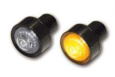 Schwarze LED Mini/Micro-Blinker, Miniblinker, MONO, M10 Einbau, ALU-Gehäuse