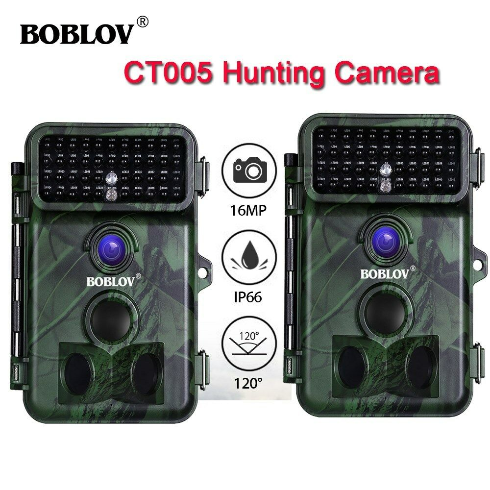 2 Piece Trail Scouting Hunting Camera 16MP 1080P Infrared Night Vision 2.4  LCD