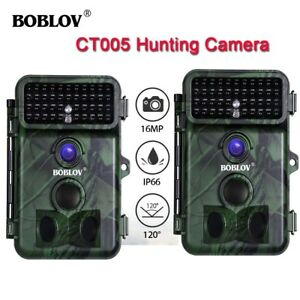 2-Piece-Trail-Scouting-Hunting-Camera-16MP-1080P-Infrared-Night-Vision-2-4-034-LCD