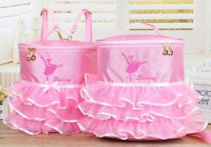 UK-Stock-Cute-Kids-Girls-Pink-BALLET-Shoes-Bag-Handbag-Dancing-Bag-Backpack