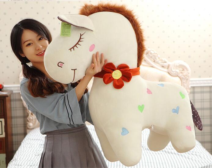 90cm Giant Giant 90cm Big Toys Horse Pillow Plush Soft Stuffed Animal Doll Birthday Gifts 2e541c