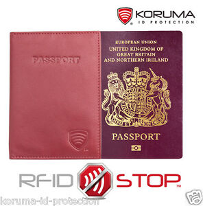 KORUMA-RFID-Blocking-Leather-Travel-Biometric-Passport-Holder-Case-KUK-91R