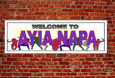 Ayia Napa Metal Sign Reproduction Town Name Wall Hanging Door Plaque