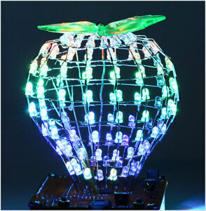 Bluetooth-WAV-MP3-Musikspektrum-Lichtwuerfel-RGB-LED-Kubikkugel-DIY-320kbps-3W