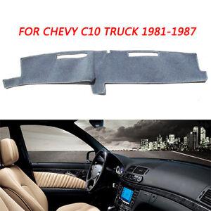 Dark Gray Dash Cover Dashboard Mat Carpet For Chevy C10 C20 Truck 1981 1986 1987 Ebay