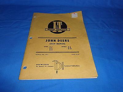 1953 JOHN DEERE SHOP MANUAL Series A B G H D M MT  I & T Shop Service # JD 4