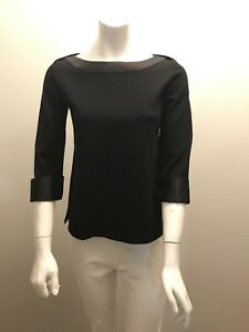 419ad18ddc08a Image is loading Chanel-Employee-Uniform-Stretch-Blouse-Top-Shirt-SIZE-