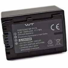 WT-NPFV70 Battery for Sony CX700V, CX760V, CX900, HC9, PJ10, PJ30V, PJ50, PJ200,