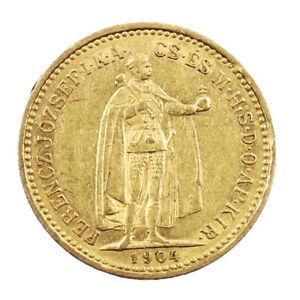 Piece-Or-Hongrie-10-Couronnes-Francois-Joseph-Annee-1904