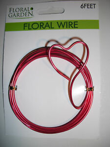 D00594  6FT  Red 12 Gage Aluminum Craft Wire  FLEXABLE