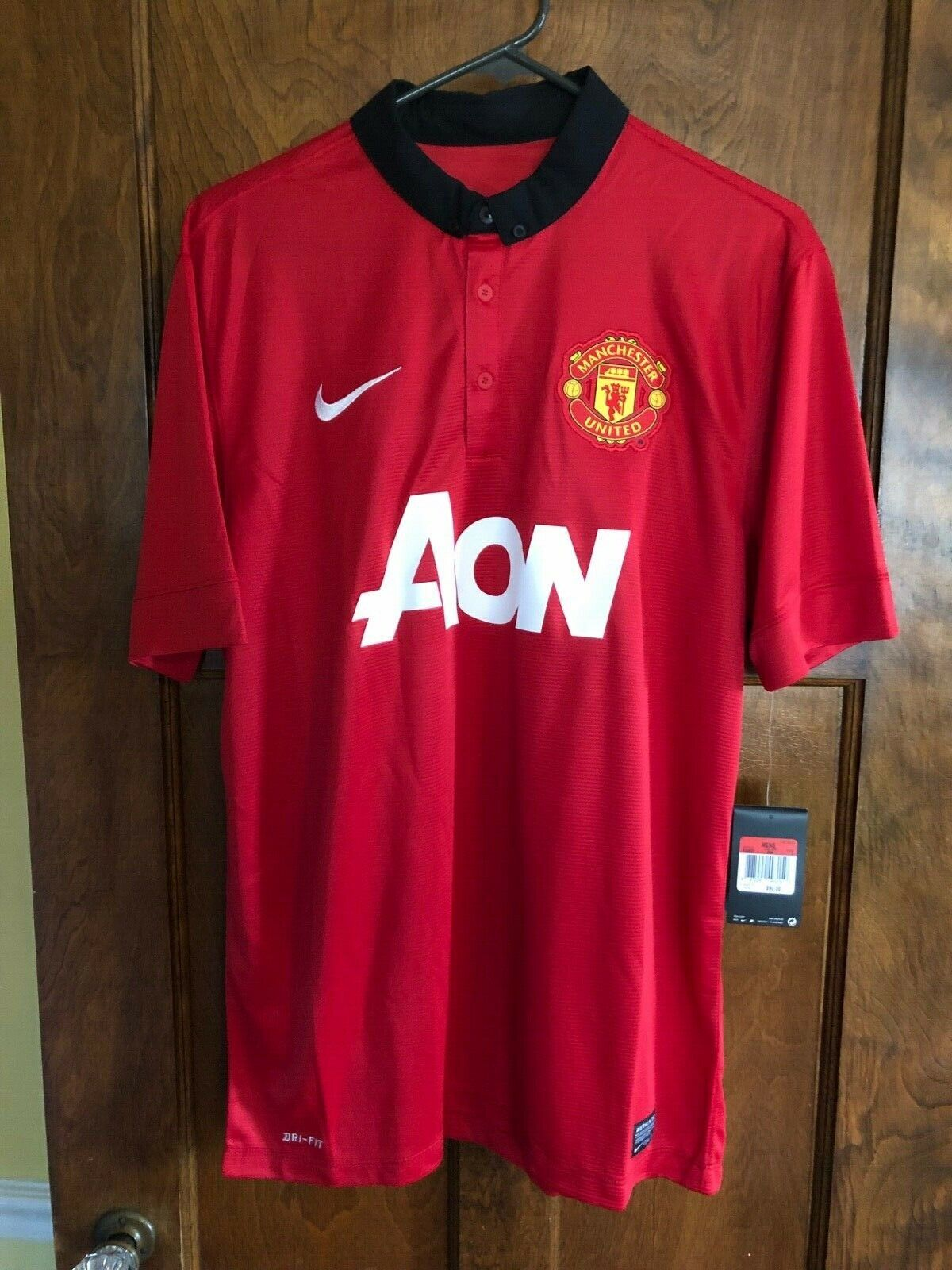 a3279795a NIKE DRI-FIT NWT MEN LARGE MANCHESTER UNITED POLO SHIRT AON MLS SOCCER  FUTBOL