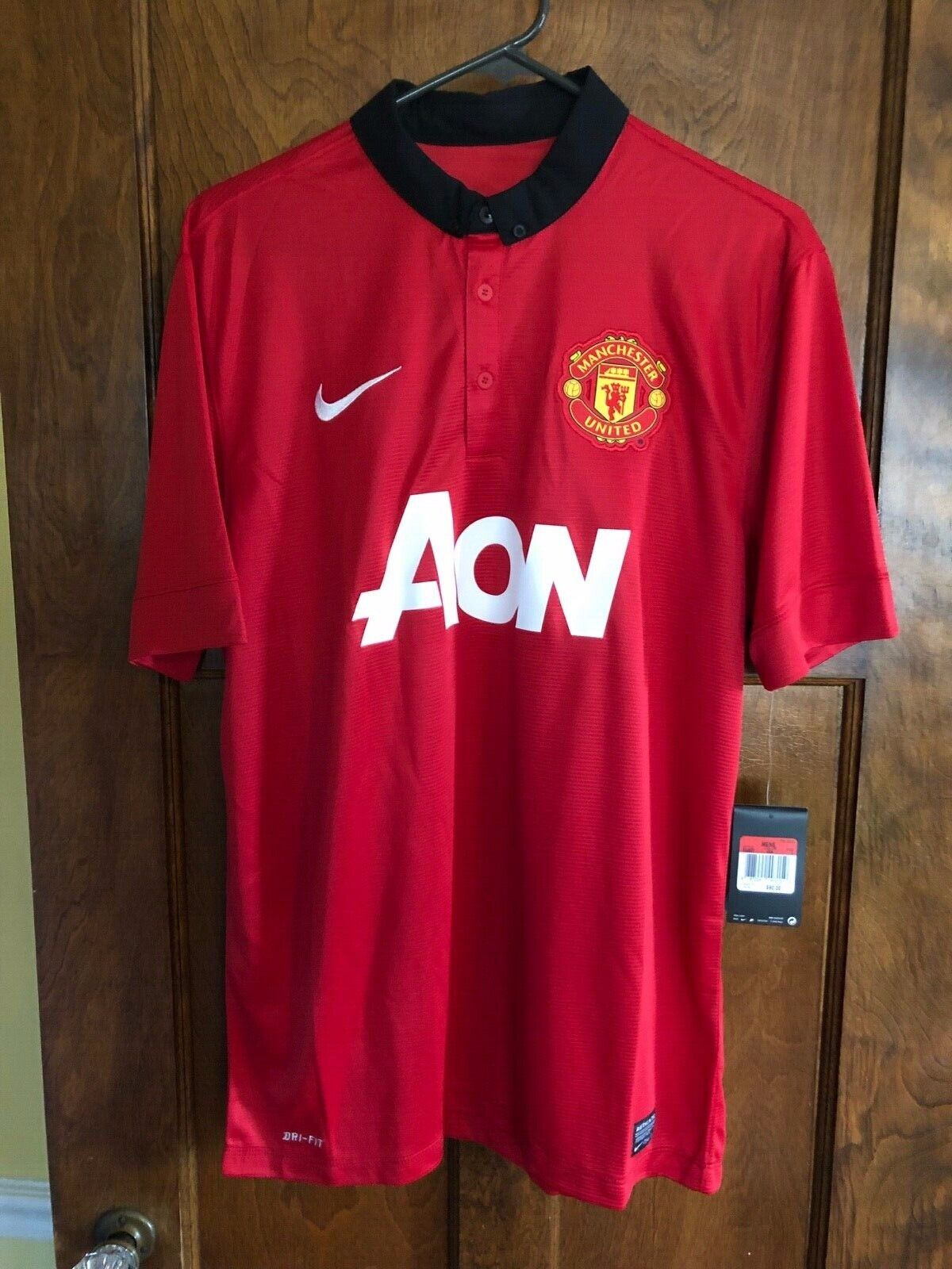 1b70b6380c0 NIKE DRI-FIT NWT MEN LARGE MANCHESTER UNITED POLO SHIRT AON MLS SOCCER  FUTBOL