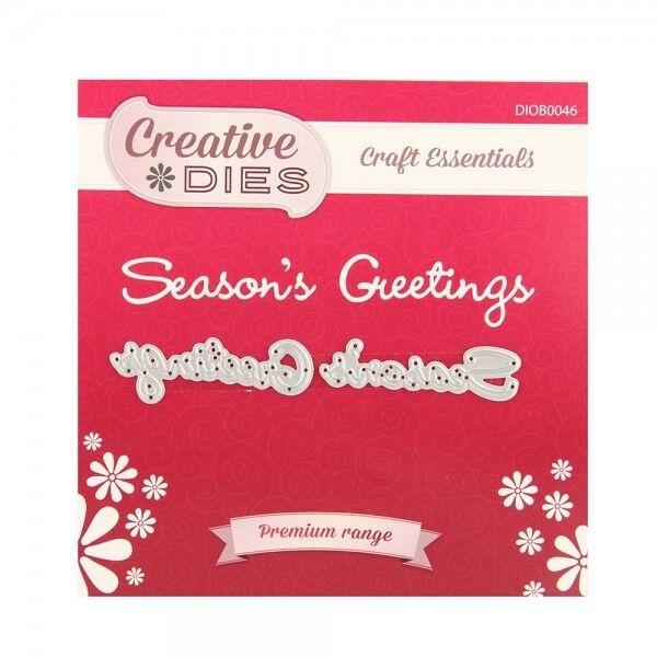 Creative Dies - Season's Greetings Die - Christmas - Use with Cuttlebug & Sizzix