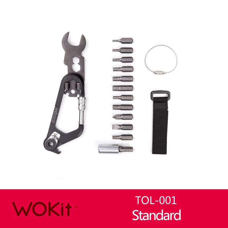 WOHO WOKit - Carabiner multi-tool CARRY SMART Bicycle Multi-Tools Repair Tool