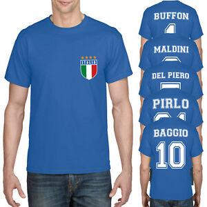 Retro-Italie-Football-Shirt-Italia-Legends-Top-Coupe-du-Monde-T-shirt-Homme-Garcon-897