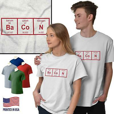 Periodic Table Bacon Science Nerd Meat Gift Tee Shirts Tshirts For Women
