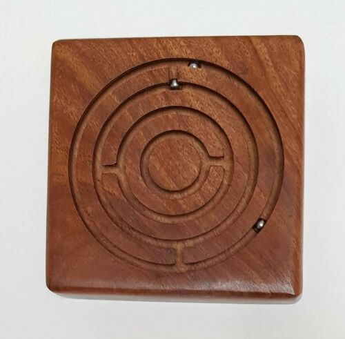 Wooden Game Labyrinth Ball in a Maze Puzzles Handcrafted Round Square