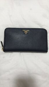 d869c25819e8ea Image is loading Prada-Continental-Zip-Around-Womens-Wallet-In-Baltico-