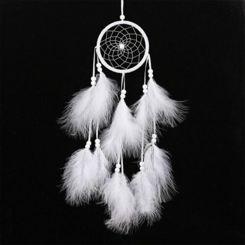 Handmade Dream Catcher Wind Chimes Indian Net With Feathers 55 cm Wall Hanging
