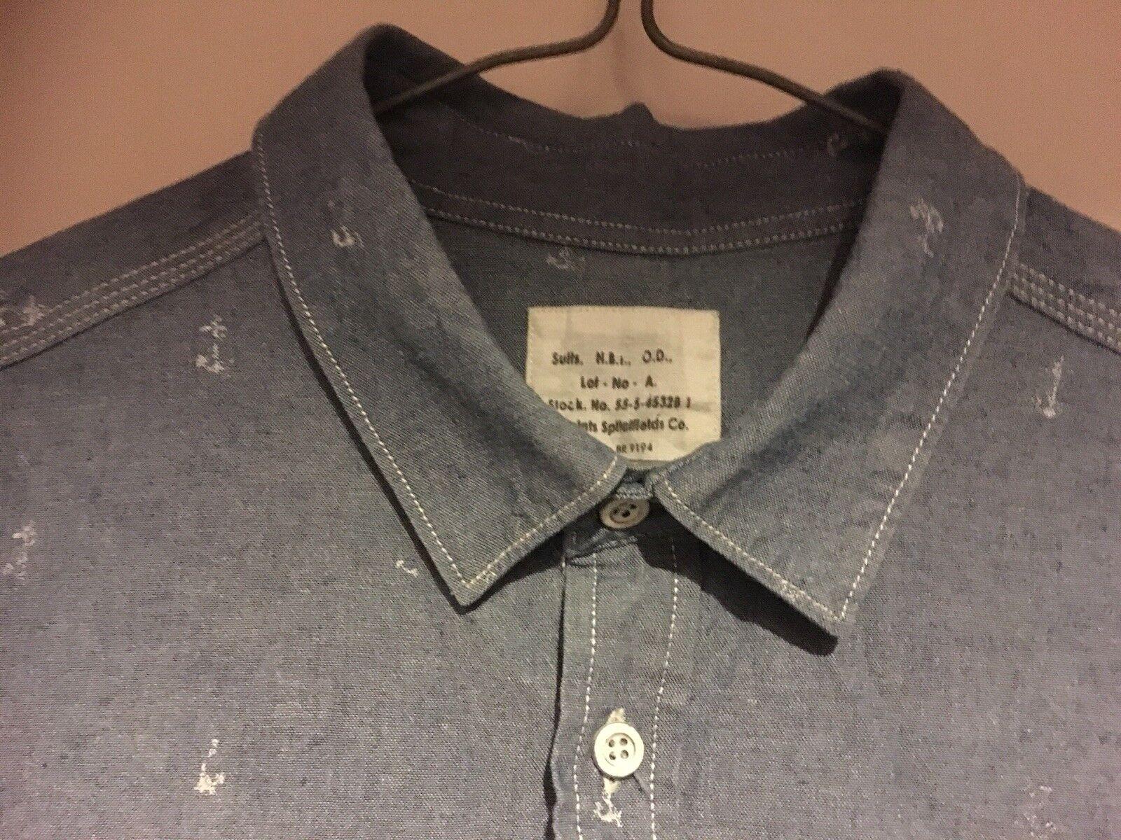 All Saints Spitalfields Spitalfields Saints Homme Denim Look Délavé Premium Chemise Bleue Taille M (38