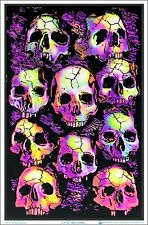 MUSIC BAND 1982 SKULLS BLACKLIGHT POSTER 23X35 SLAYER