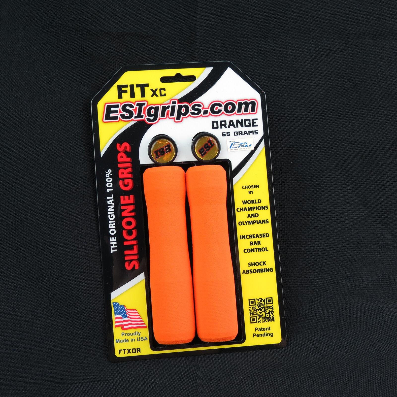 ESI FIT XC Silicone MTB Mountain Bike Bicycle Handlebar Bar Grips   65g - orange