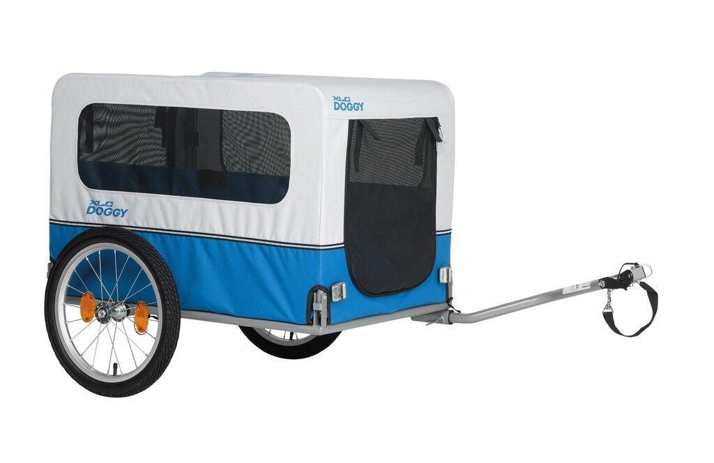 Bicicleta remolque para perros Doggy XLC van azul gris modelo 2018 nuevo