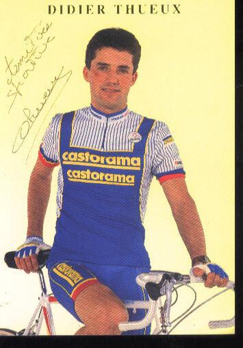 DIDIER THUEUX Autographe cyclisme cycling Autographe THUEUX CASTORAMA 61fb92