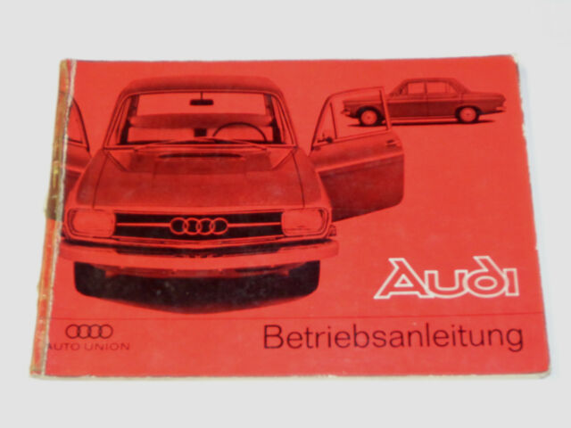 Operating Instructions  Manual Audi F103 72  80    Super 90  Stand 01  1966