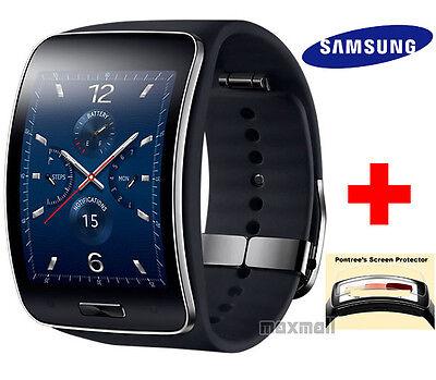 Samsung Gear S SM-R750 (K/S) Smartwatch Unlock [BLACK] w/ Free 3 Screen Guards