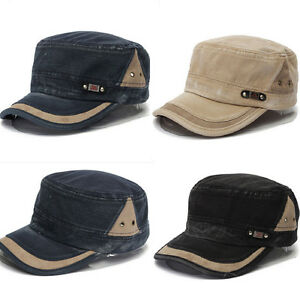Classic-Army-Plain-Baseball-Cap-Adjustable-Cadet-Military-Washed-Old-Style-Hat