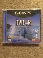 Sony Dvd Rewritable Dvd+rw 4.7 Gb 120 Minutes Brand (lot Of 10)