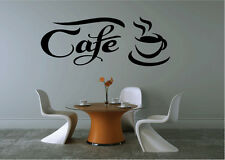 Cafe Coffee Cup Vinyl Sticker Decal for Room Wall Decor Black Coffee shop