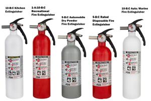 Details about Kidde Fire Extinguisher Auto Marine Kitchen Recreational  Disposable ABC Various