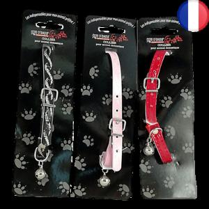 Collier Clochette grelot 24,5cm anti-déchirure animal petit chien chat