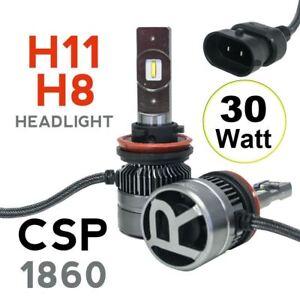 RS-MINI-H11-H8-30W-CSP-1860-Focus-Beam-LED-Headlight-Kit-5500K-2pcs