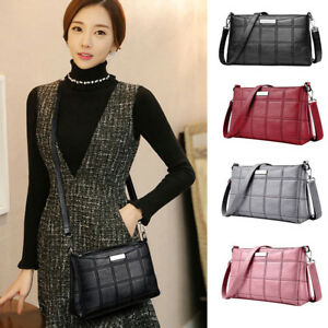 Women-Leather-Handbag-Shoulder-Bag-Lady-Purse-Tote-Messenger-Satchel-Crossbody-E